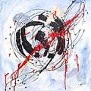 Musical Abstract 002 Art Print