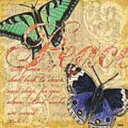 Musical Butterflies 2 Art Print by Debbie DeWitt