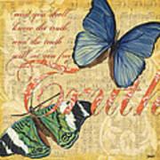 Musical Butterflies 3 Art Print