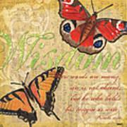 Musical Butterflies 4 Art Print