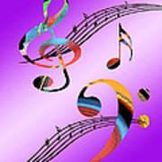 Musical Illusion Art Print