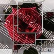 Musical Rose Montage Art Print