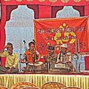 Musicians At Hindu Festival Of Ram Nawami In Kathmandu-nepal Art Print
