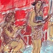 Musicians Busking  Art Print