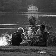 Musicians By The Pond Art Print