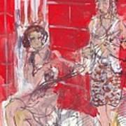 Musicians On Chartres Street I Art Print