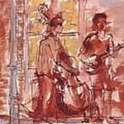 Musicians On Royal Street New Orleans Art Print