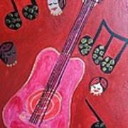Musique Rouge Art Print