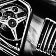 Mustang Interior Monochrome Art Print