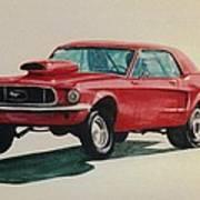 Mustang Launch Art Print