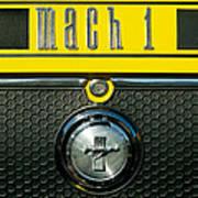Mustang Mach 1 Emblem 2 Art Print