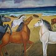 Mustang Mates Art Print by Prasenjit Dhar