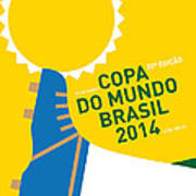 My 2014 World Cup Soccer Brazil - Rio Minimal Poster Art Print