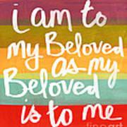 My Beloved Print by Linda Woods