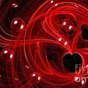 My Cosmic Valentine Art Print by Peggy Hughes