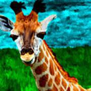 My Favorite Giraffe Art Print