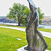 My Favorite View Of Metal Sculpture In Front Of Maryhill Museum Of Art-wa Art Print