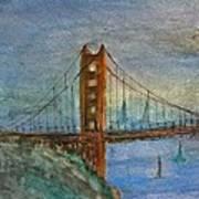 My Golden Gate Bridge Art Print by Anais DelaVega