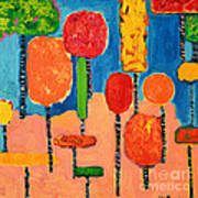 My Happy Trees 2 Art Print