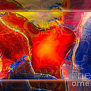 My Heart On My Sleeve An Abstract Painting Art Print