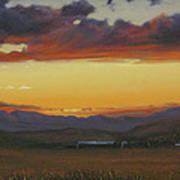 My Home's In Montana Art Print