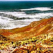 My Impression Of California Coastline Art Print