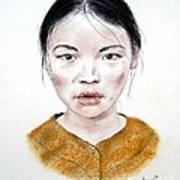 My Kuiama A Young Vietnamese Girl  Art Print by Jim Fitzpatrick