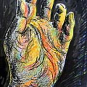 My Left Hand 3 Art Print
