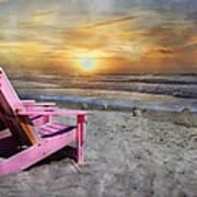 My Life As A Beach Chair Art Print