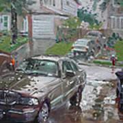 My Lincoln In The Rain Art Print