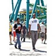 My Little Brother And I At Cedar Point Art Print