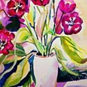 My Morning Tulips Opened Sold Original Art Print
