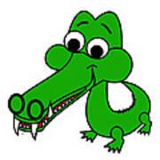 My name is Croc-O-Dile Art Print