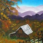 My Neighbors Barn Big Sandy Mush Nc Art Print