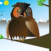 My Owl Art Print by Kenneth Feliciano