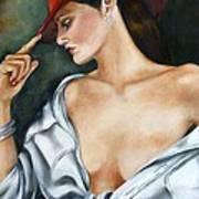 My Red Hat Art Print