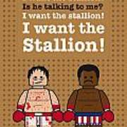 My Rocky Lego Dialogue Poster Art Print by Chungkong Art