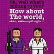 My Scarface Lego Dialogue Poster Art Print