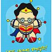 My Supercharged Voodoo Dolls Wonder Woman Art Print