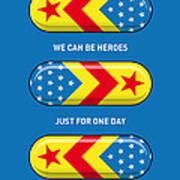 My Superhero Pills - Wonder Woman Art Print