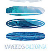 My Surfspots Poster-2-mavericks-california Print by Chungkong Art