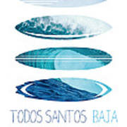 My Surfspots Poster-6-todos-santos-baja Art Print