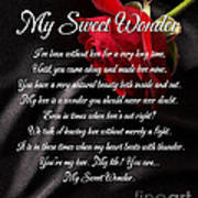 My Sweet Wonder Poetry Art Art Print