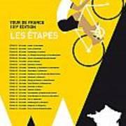 My Tour De France Minimal Poster 2014-etapes Art Print