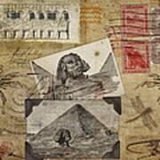 My Trip To Egypt 1914 Print by Carol Leigh