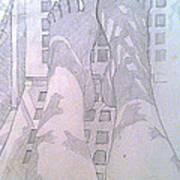 My Two Feet Art Print
