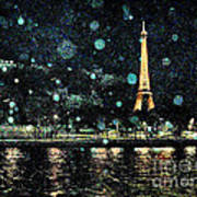 My Van Gogh Eiffel Tower Art Print