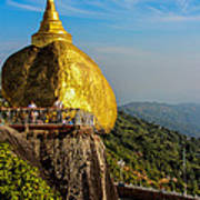 Myanmar's Golden Rock Pagoda Art Print
