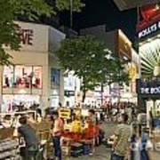Myeongdong Shopping Street In Seoul South Korea Art Print