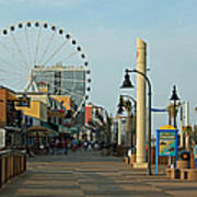 Myrtle Beach Boardwalk Art Print